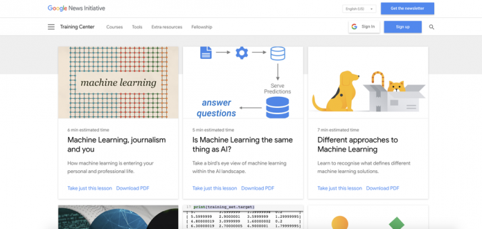 Helping journalists understand the power of machine learning